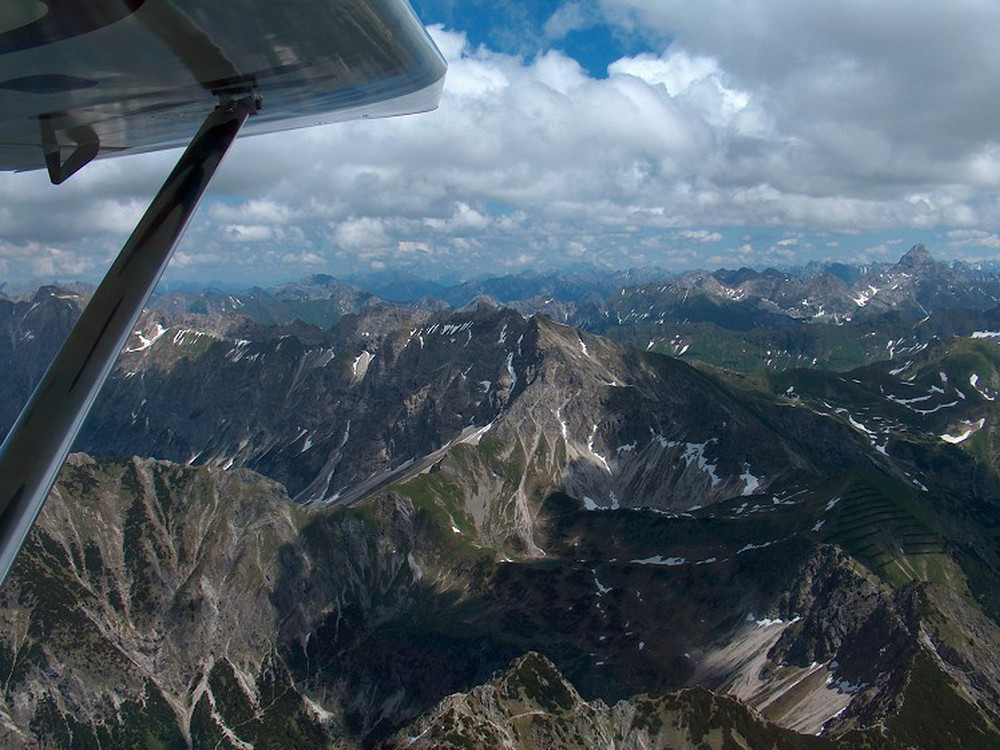 <p>Achim Groh verso le Alpi</p>