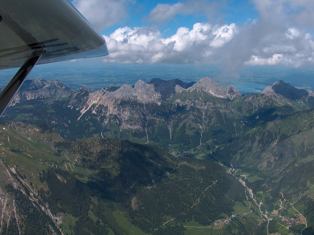 <p>Achim Groh towards the Alps</p>