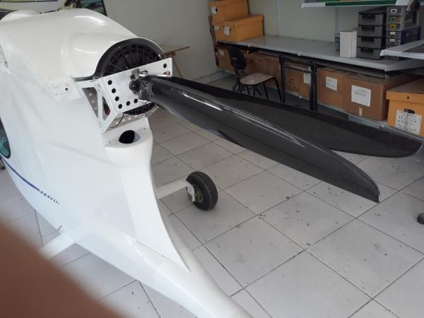 Electric motor and foldable propeller