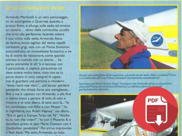 2001/2002 - ITALIA: AVIAZIONE SPORTIVA - ARTICOLI MENSILI SUL PROGETTO - 01 E ARTICOLO SU MARTINELLI