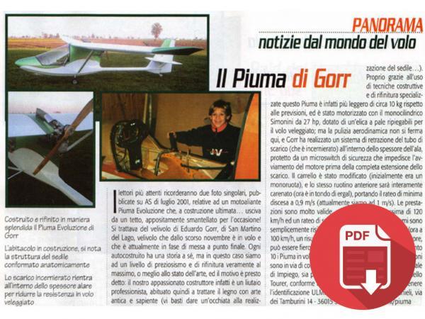 2002 -  ITALIA: AVIAZIONE SPORTIVA - IL PIUMA DEL LIUTAIO EDUARDO GORR