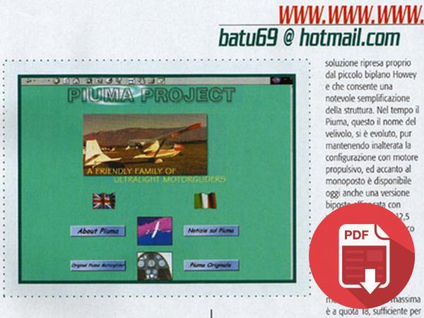 2002 - ITALIA: AVIAZIONE SPORTIVA - SITO NEL 2002 E PIUMA DI GORR CON LA GRU